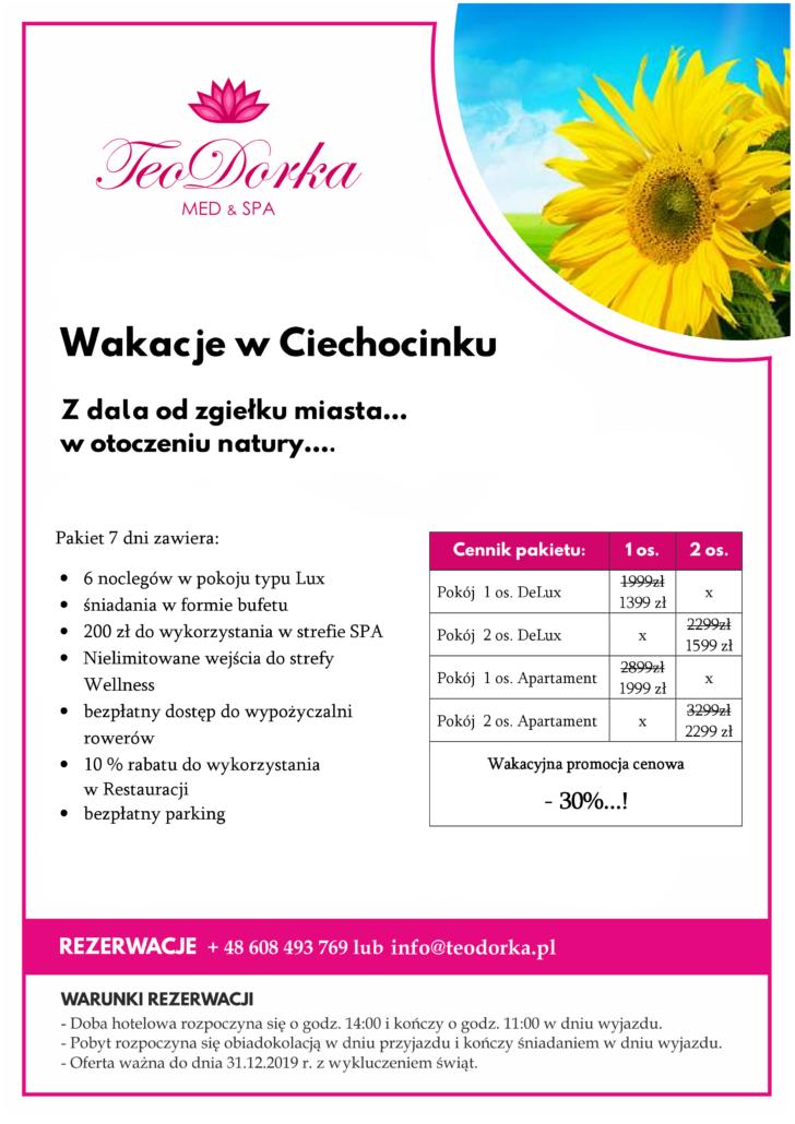 Pakiet Wakacje w Ciechocinku Teodorka Ciechocinek