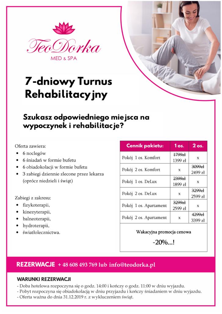 Pakiet Rehabilitacyjny Teodorka Ciechocinek