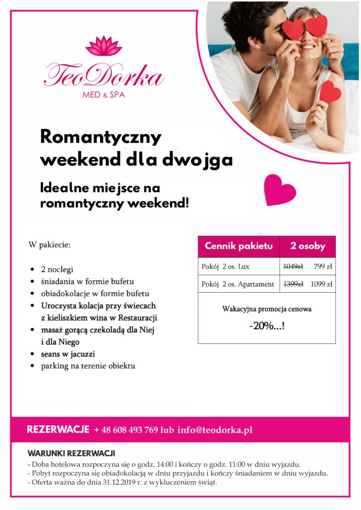 Pakiet Romantyczny Teodorka Ciechocinek