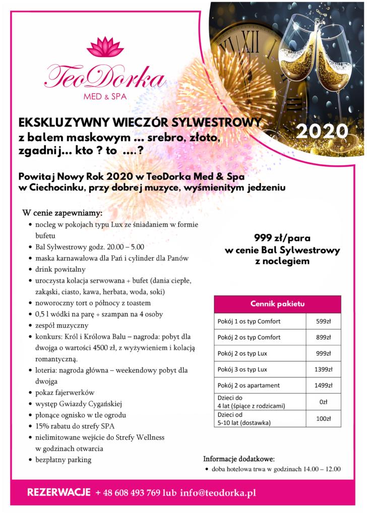 Centrum Teodorka Ciechocinek Sylwester 2020