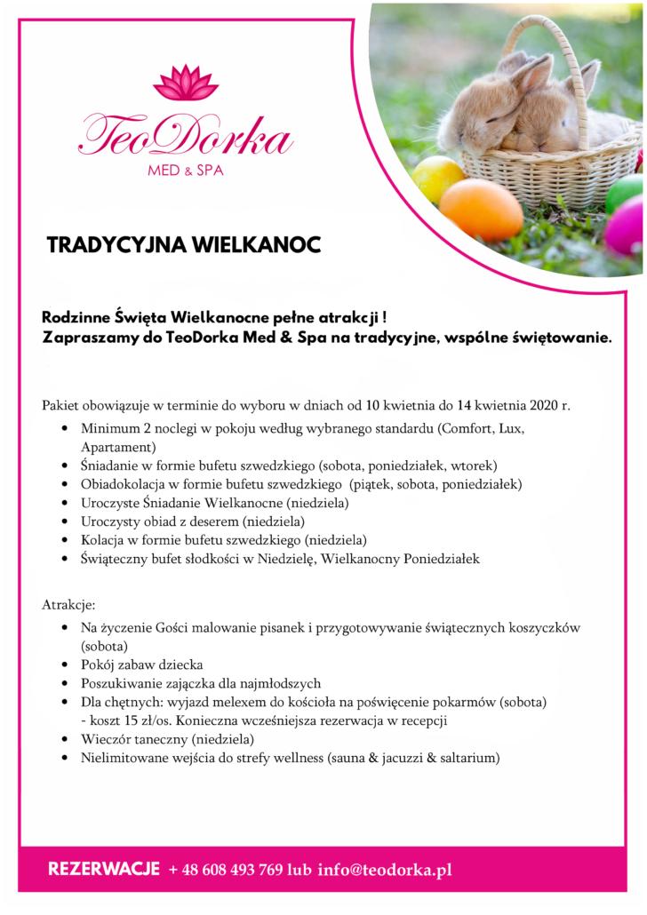 Centrum Teodorka Ciechocinek - pakiet wielkanocny 2020